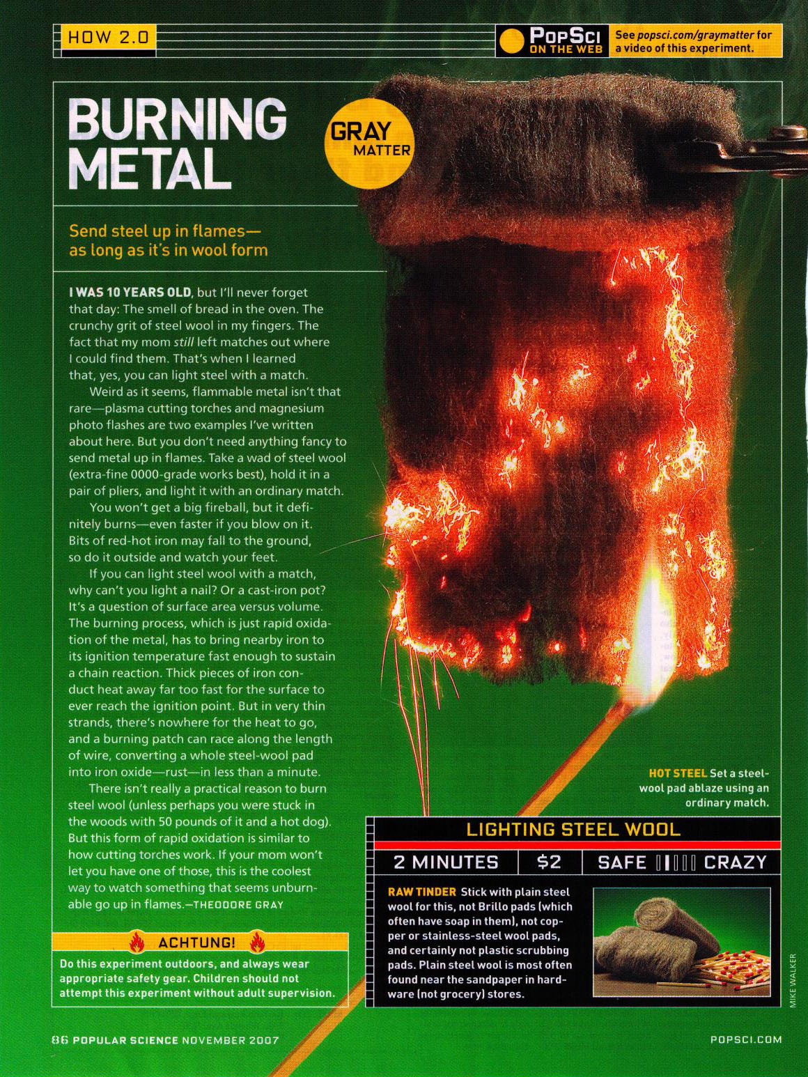 Burning Metal Popular Science column by Theodore Gray