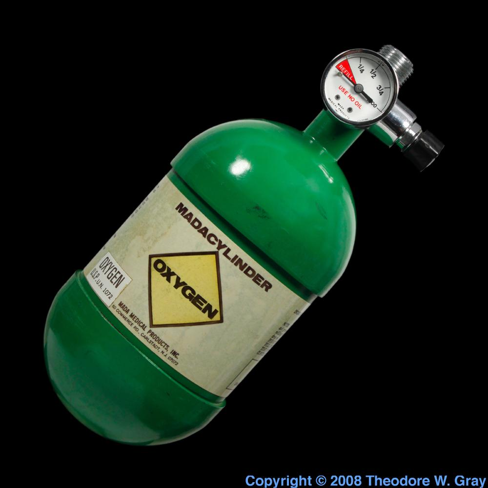 Portable oxygen tank a sample of the element oxygen in the oxygen portable oxygen tank gamestrikefo Images