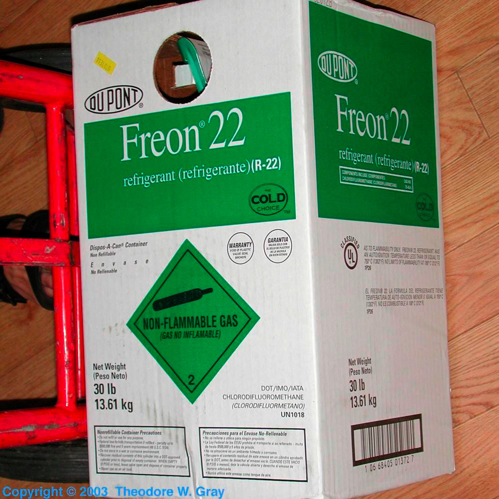 Freon 22 a sample of the element fluorine in the periodic table fluorine freon 22 gamestrikefo Gallery