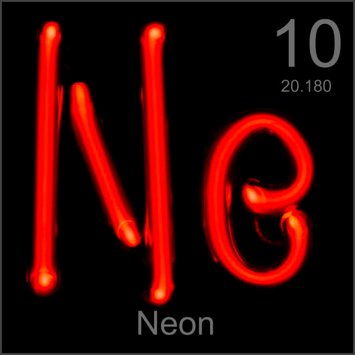 My periodic table poster is now available Neon Element Symbol