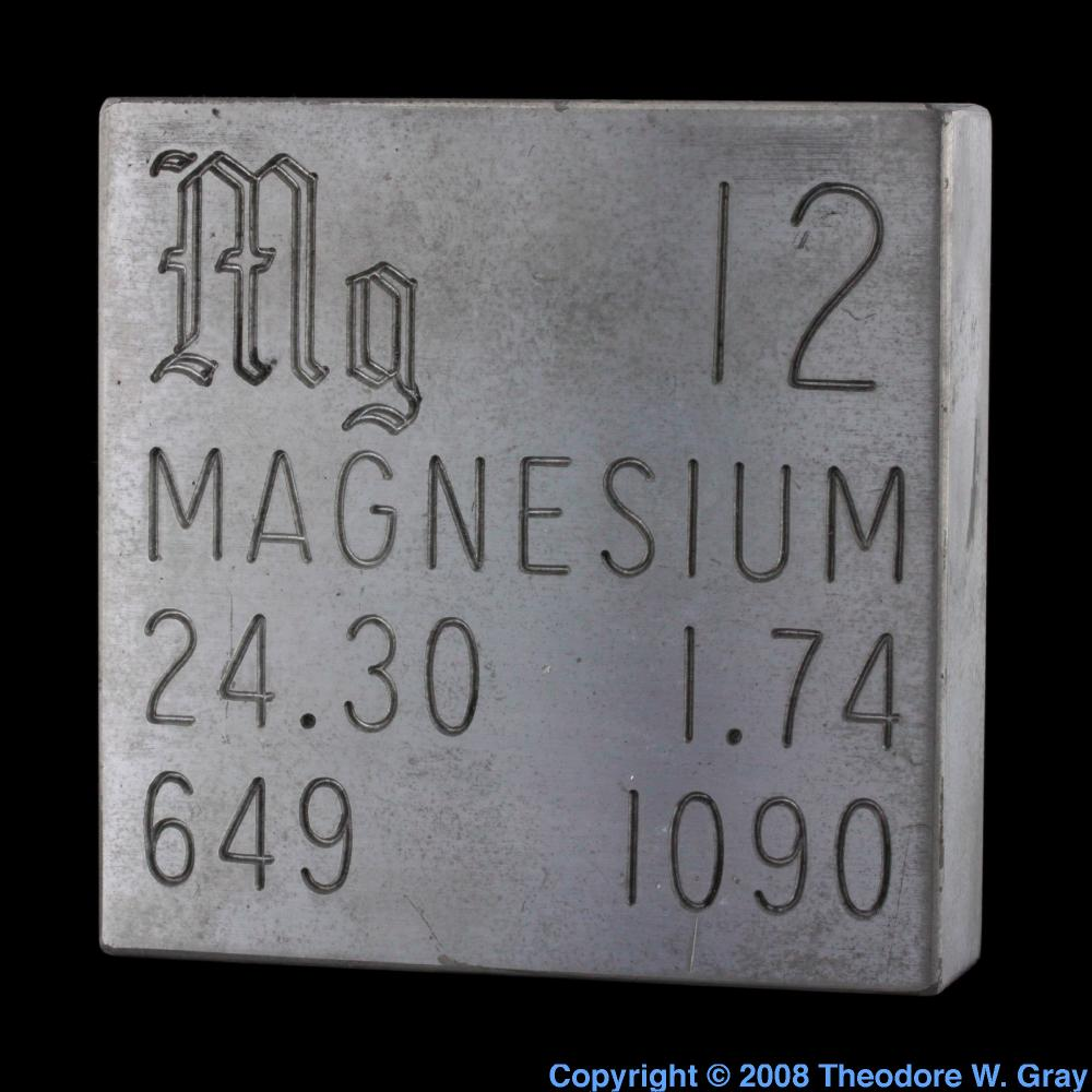 Engraved plate a sample of the element magnesium in the periodic magnesium engraved plate gamestrikefo Images