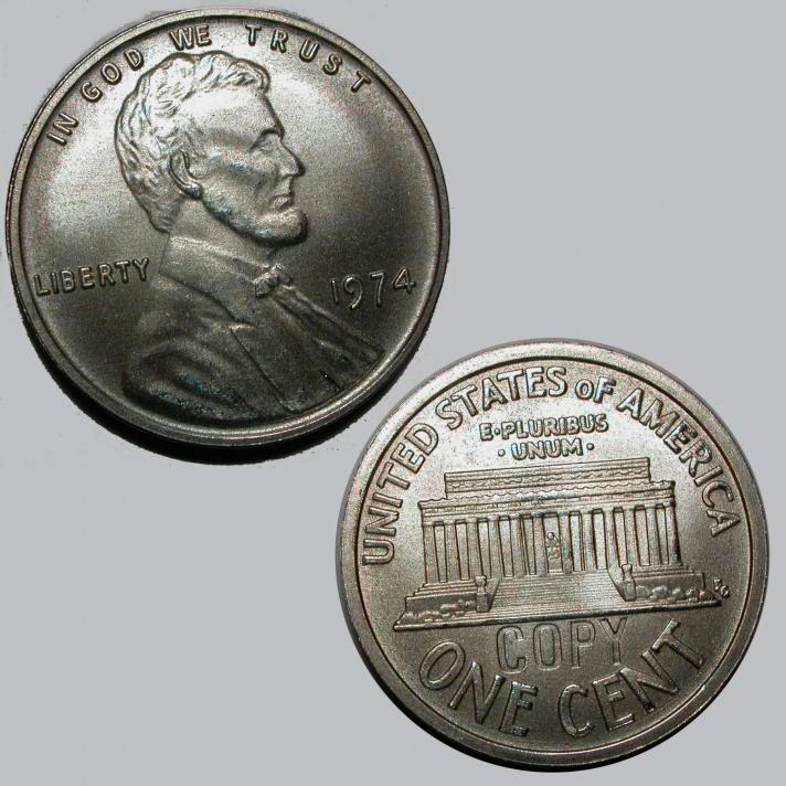 Aluminum Penny, A Sample Of The Element Aluminum In The