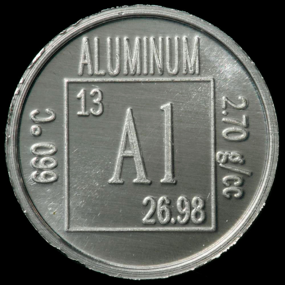 Element coin a sample of the element aluminum in the periodic table aluminum element coin gamestrikefo Image collections