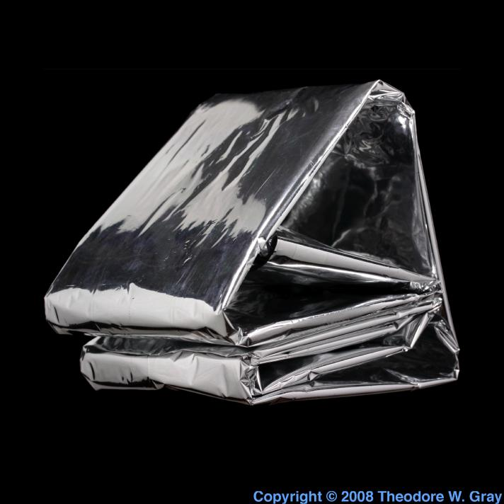 Aluminized Survival Blanket A Sample Of The Element