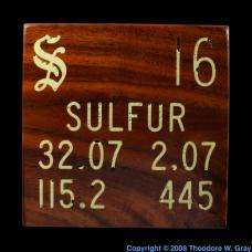 Sulfur Sulfur inlaid wood tile