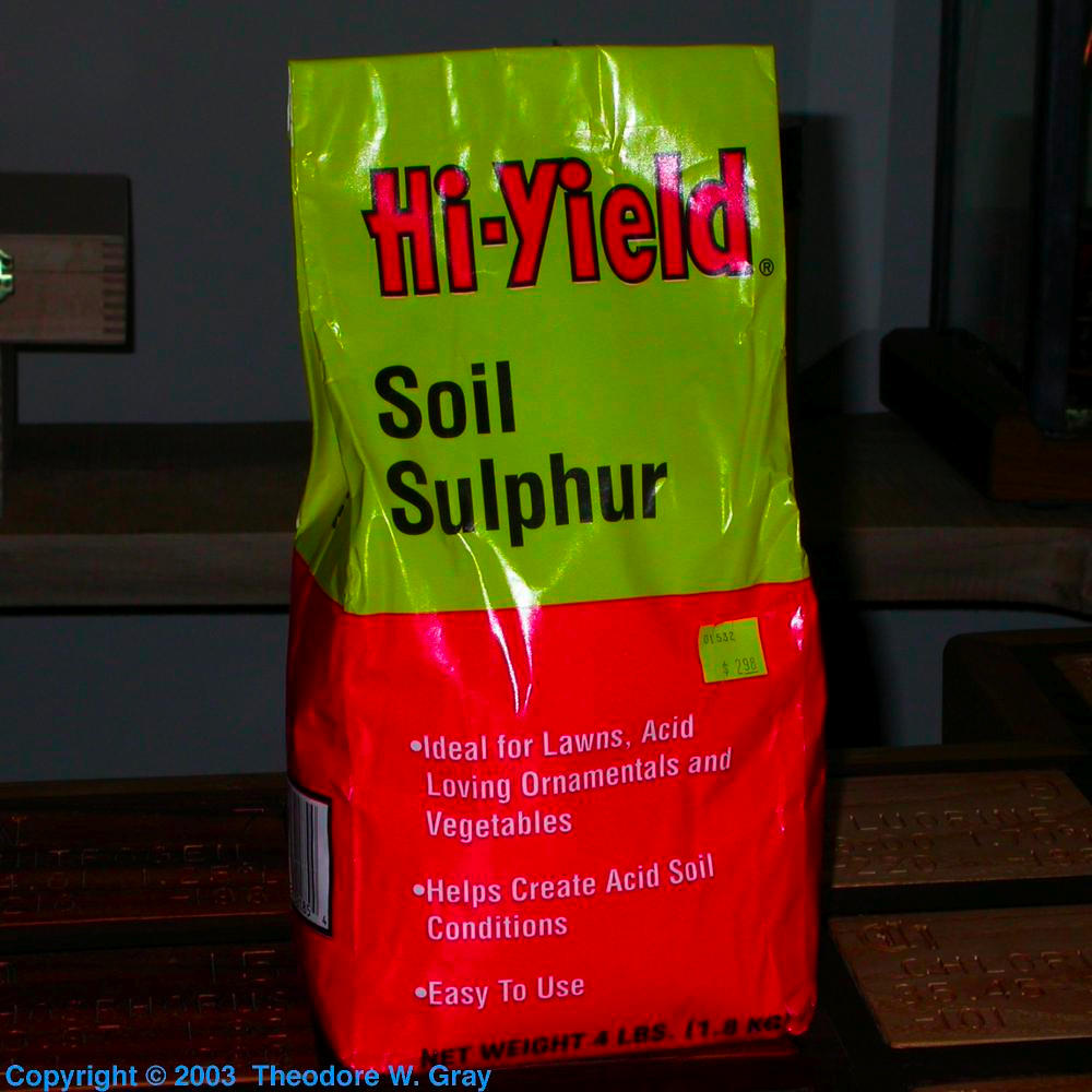 Soil Sulfur, a sample of the element Sulfur in the ...