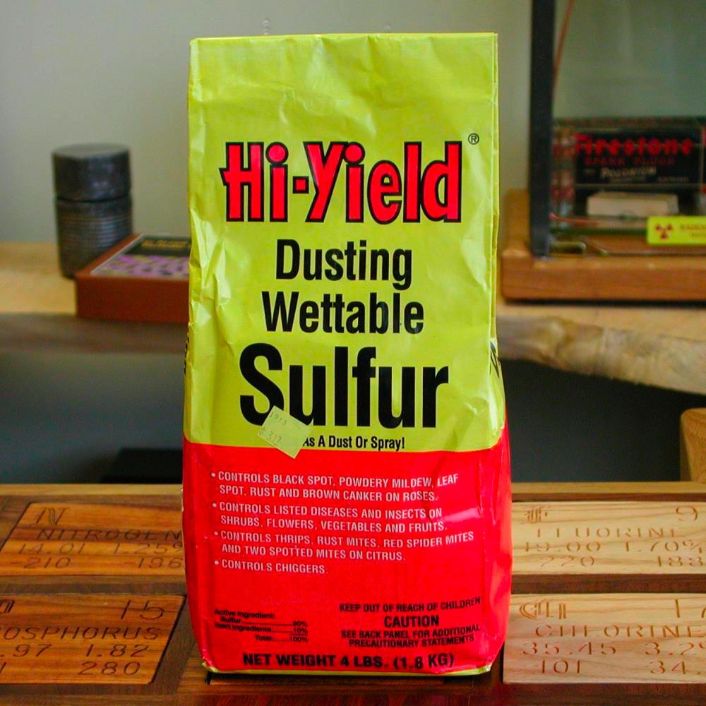 Uses Of Sulfur Dusting Sulfur, a samp...