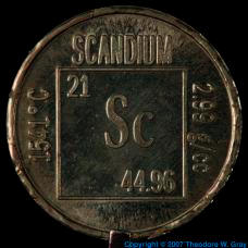 Scandium Element coin