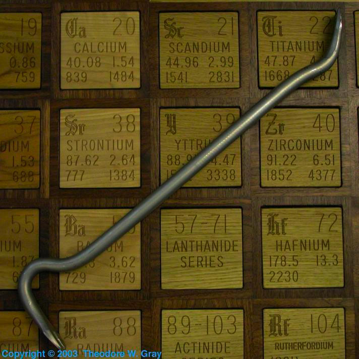 Crowbar, a sample of the element Titanium in the Periodic ...