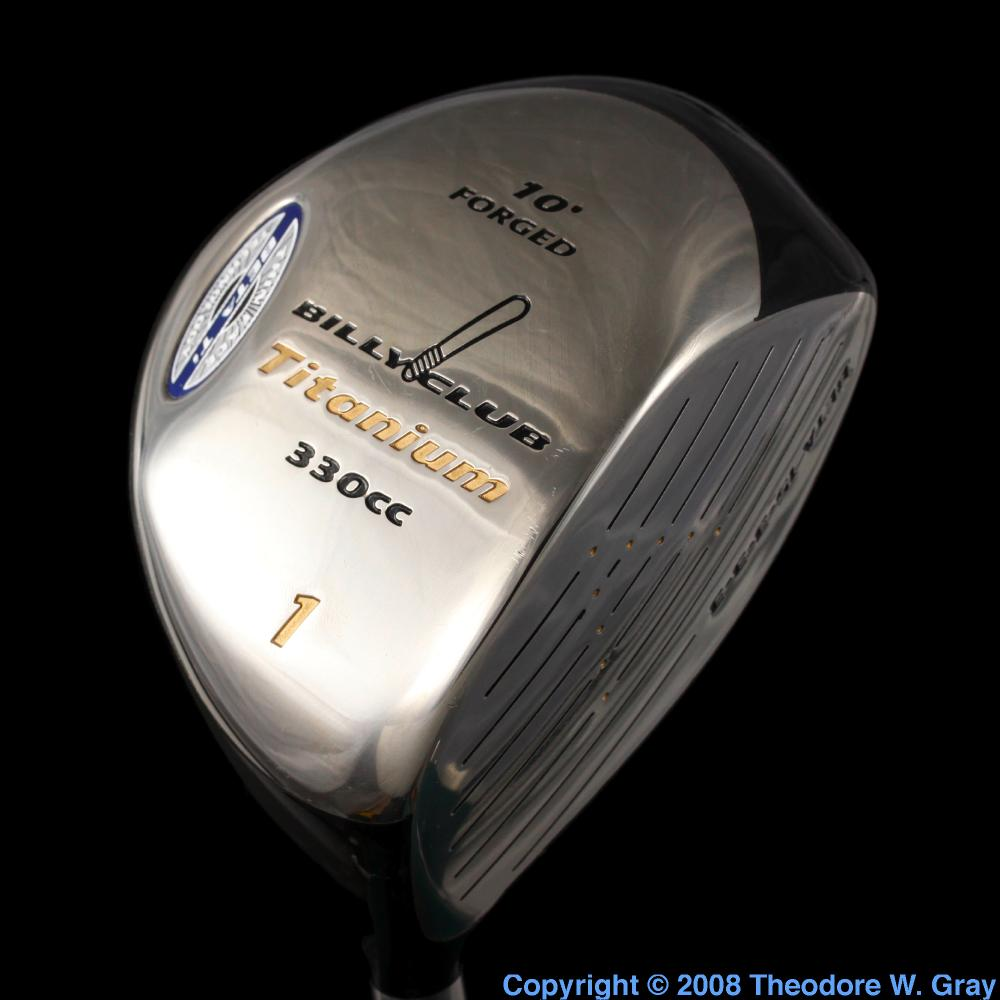 golf club  a sample of the element titanium in the