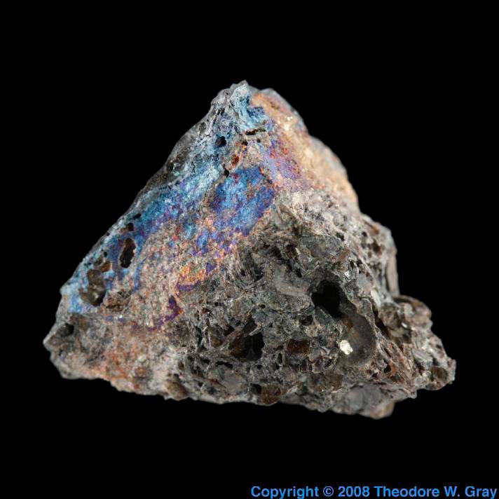 Rough titanium metal in slag, a sample of the element ...