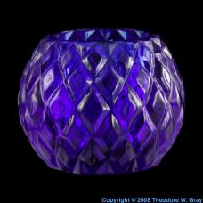 Cobalt Cobalt-glass candle holder