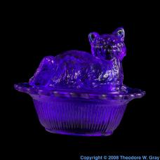 Cobalt Cobalt-glass cat thing