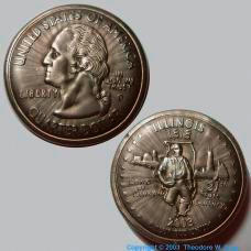Copper Shrunken Quarter
