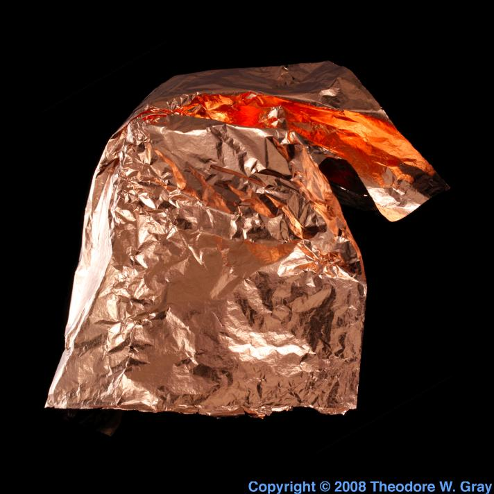 Copper Leaf  A Sample Of The Element Copper In The
