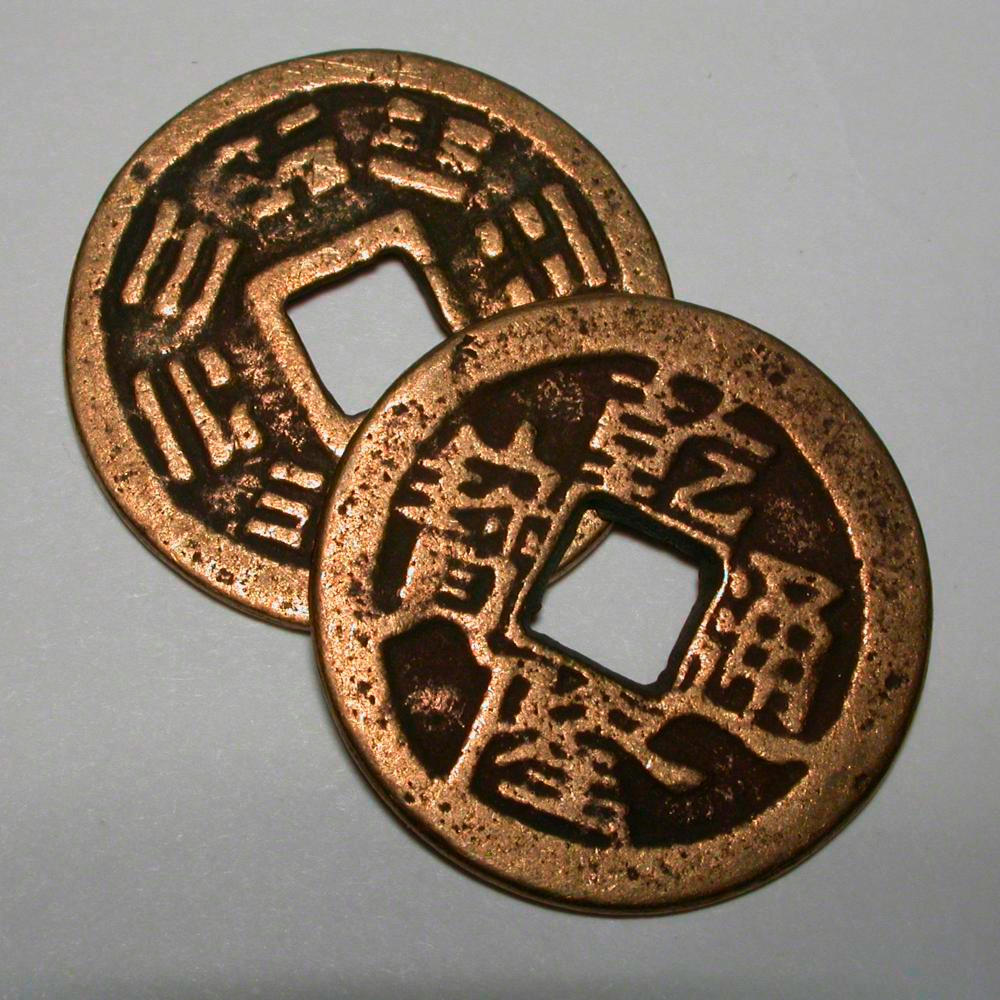Chinese coin a sample of the element copper in the periodic table copper chinese coin gamestrikefo Choice Image