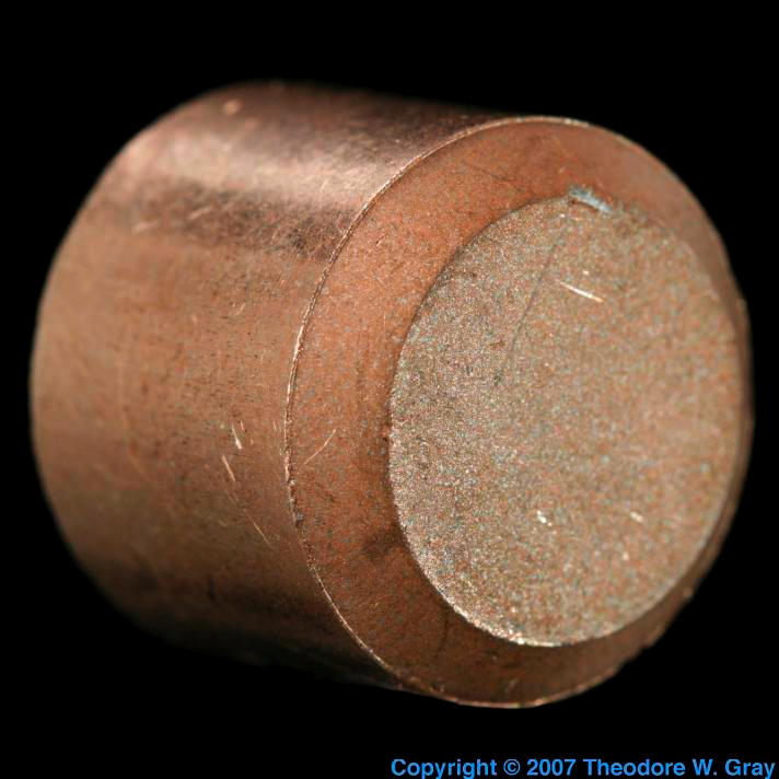 Copper Frangible copper projectile