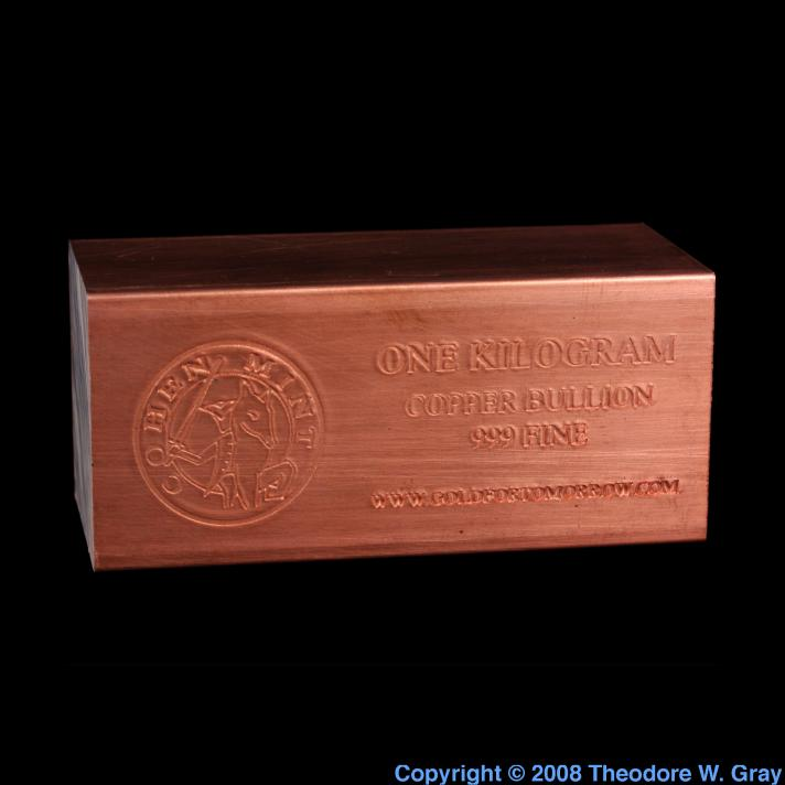 1kg Copper Ingot A Sample Of The Element Copper In The