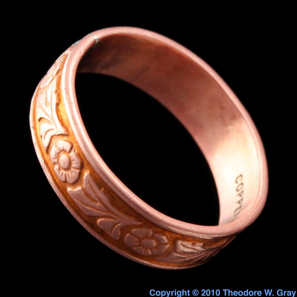 Pictures stories and facts about the element copper in the copper copper ring gamestrikefo Images