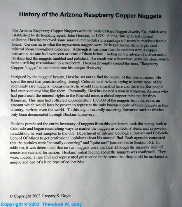 Copper Arizona Raspberry Copper Nodules/Nuggets