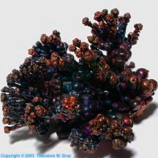 Copper Electrochemically grown crystal