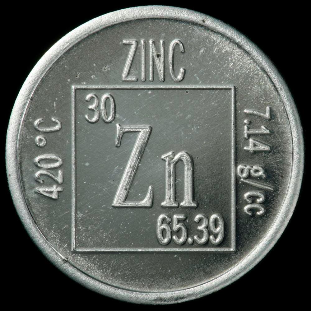 Zinc Element coin Zinc Periodic Table