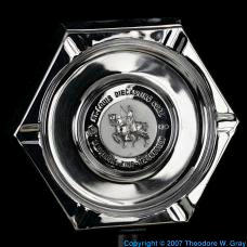 Zinc Chrome plated zinc ashtray