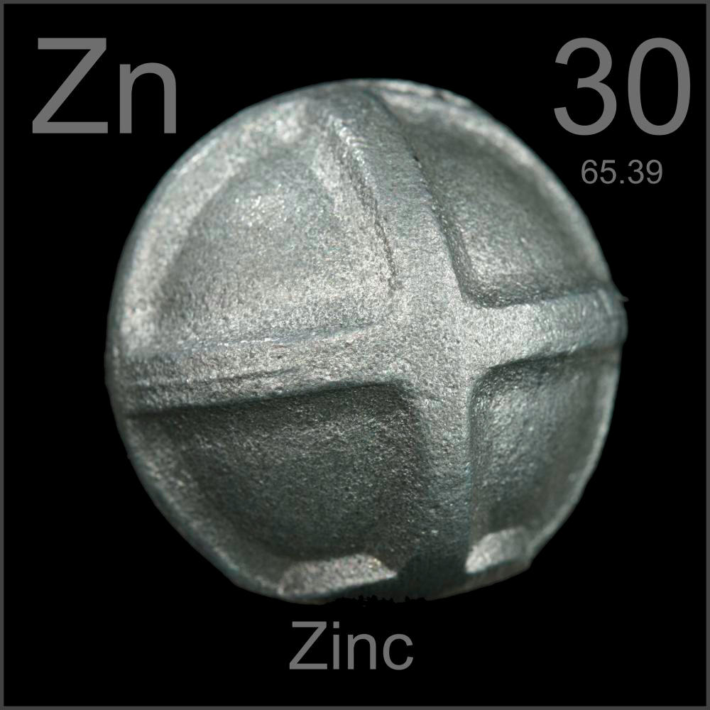 Oil tank sacrificial anodes, a sample of the element Zinc in the ...