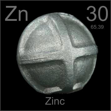 pictures stories and facts about the element zinc in the periodic table