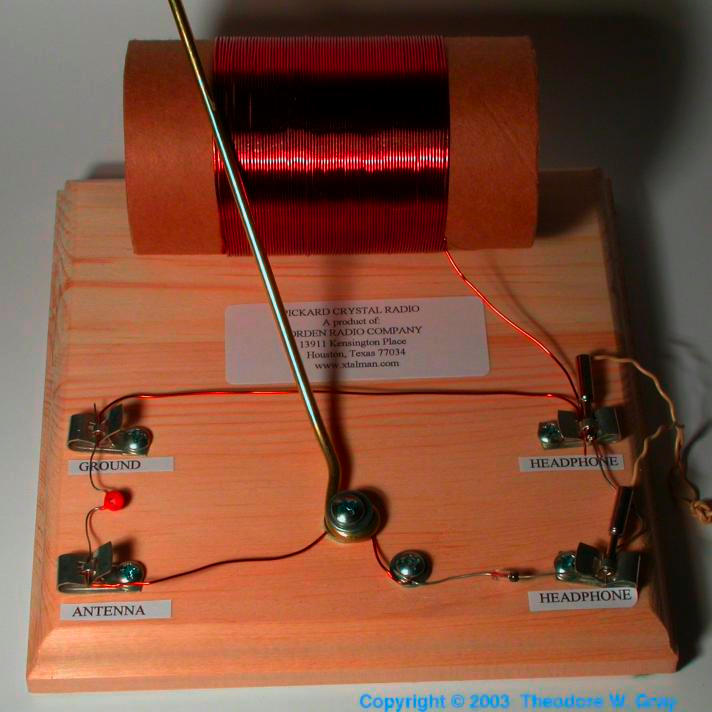 Germanium Antique-style crystal radio kit