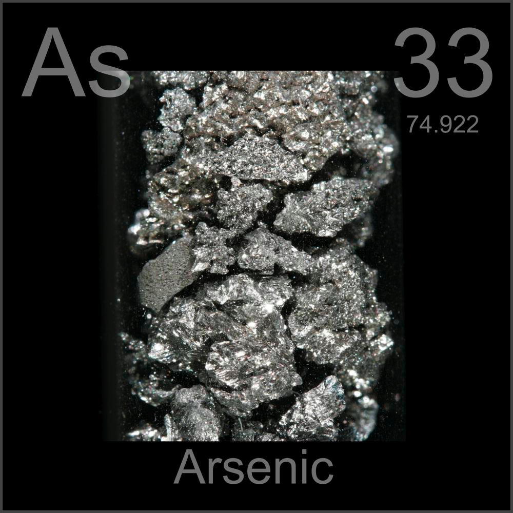 Arsenic Chemical Element  water uses elements metal