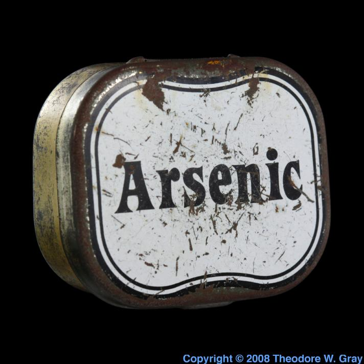 Arsenic Small tin of arsenic