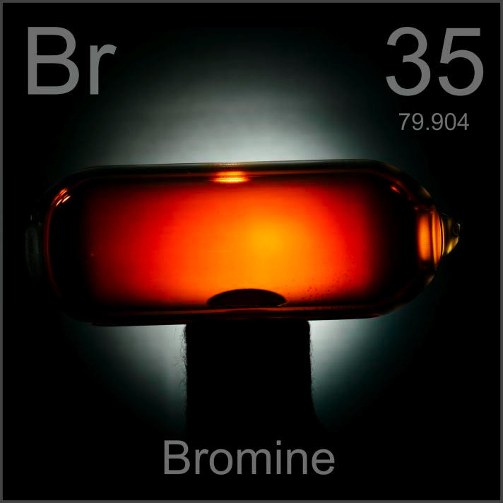 Bromine Gas in a bulb
