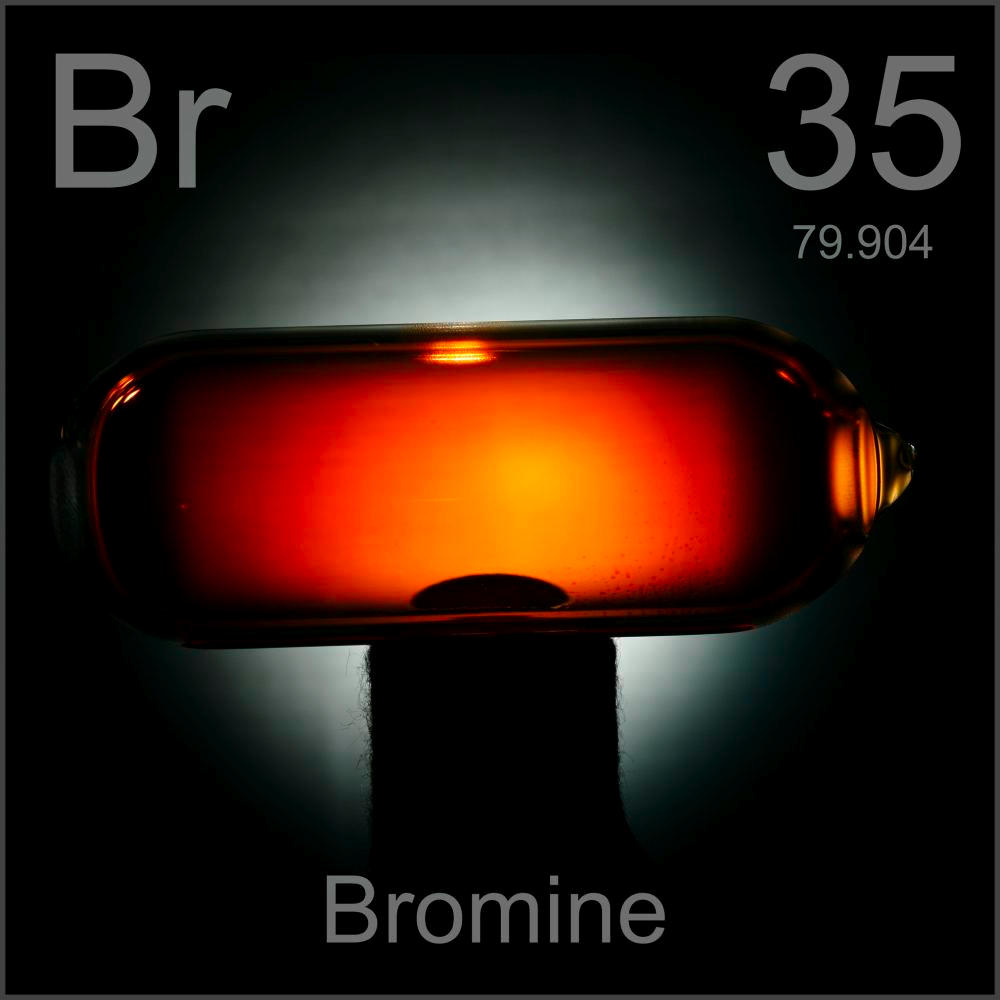 Gas in a bulb a sample of the element bromine in the periodic table bromine gas in a bulb gamestrikefo Gallery