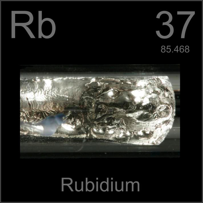 Sample of the element Rubidium in the Periodic Table