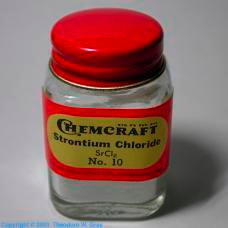Strontium Strontium chloride from old chemistry set
