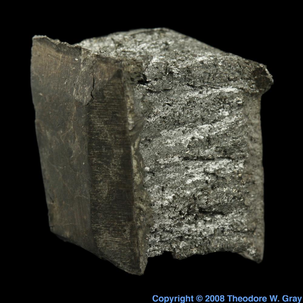 Large Cubical Lump A Sample Of The Element Yttrium In The Periodic