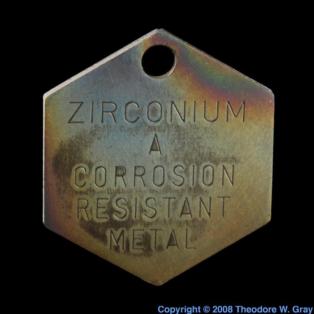 Wah chang tag hexagonal a sample of the element zirconium in the zirconium wah chang tag hexagonal urtaz Images