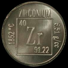 Zirconium Element coin