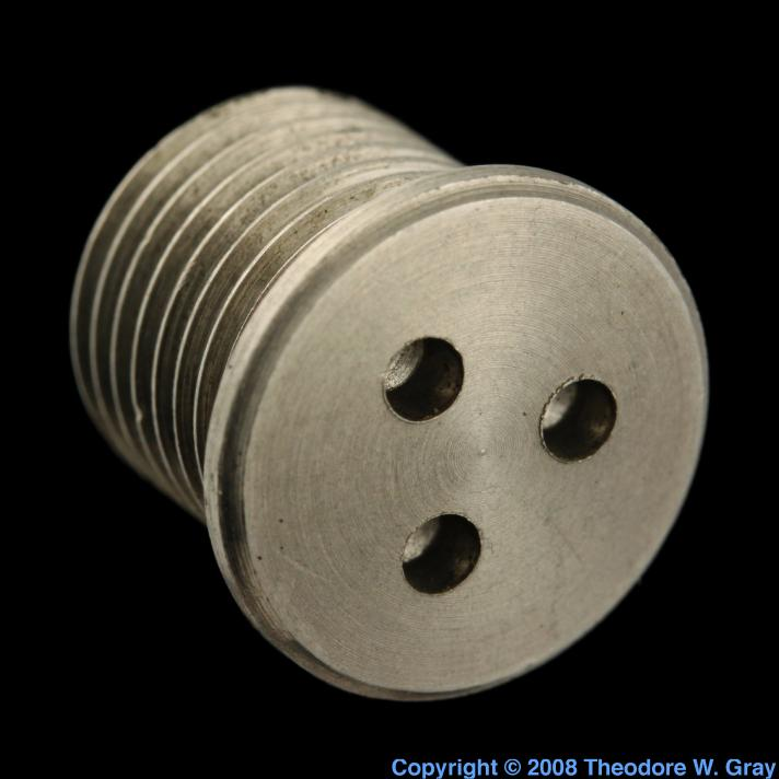 Zirconium Tungsten/zirconium alloy screw plug