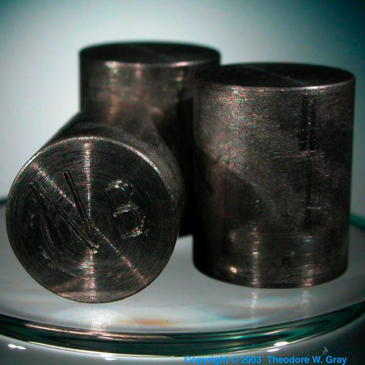 Niobium Sample from Wooden Book