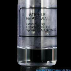 Technetium Medical vial
