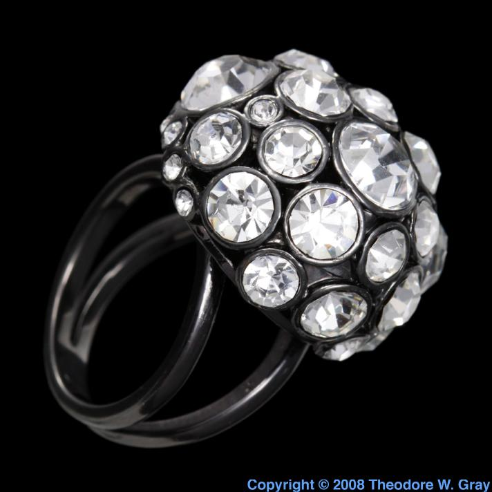 Ruthenium Ruthenium plated ring