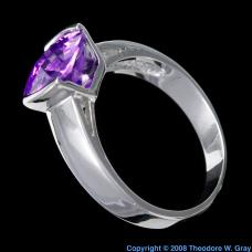Rhodium Rhodium plated Ring with Tanzanite