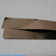 Palladium Small rectangle of 0.01mm foil, 99.999%