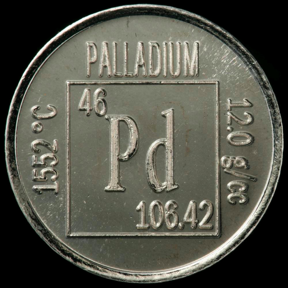 Element coin a sample of the element palladium in the periodic table palladium element coin gamestrikefo Gallery