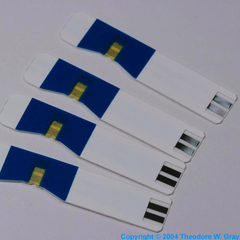 Palladium Blood sugar test strips