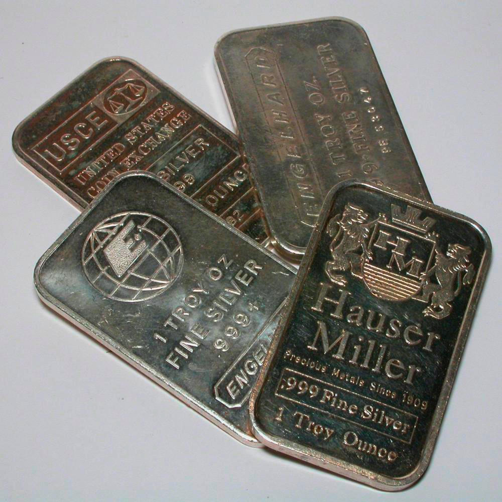 Bullion Bars A Sample Of The Element Silver In The