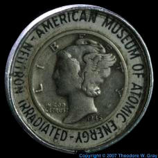 Silver Irradiated dime