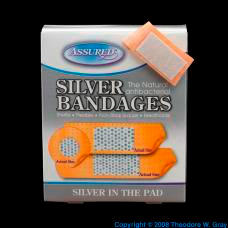 Silver Silver-laced bandages